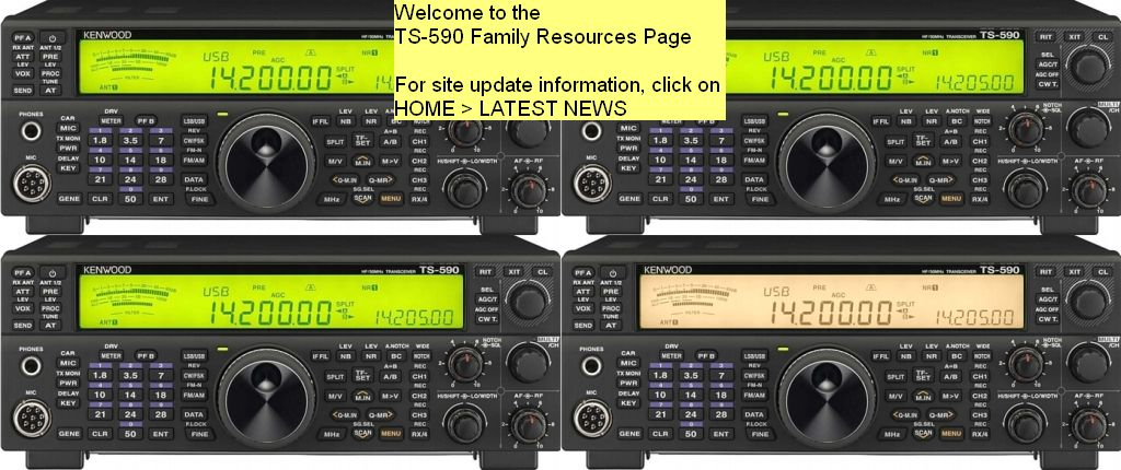 The one-stop site for TS-590SG and TS-590S information